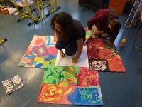 Painting workshop on motives from the life story of Doris Grozdanovičová