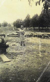 Doris as shepherd in Terezín, 1943