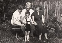 Josef Urban with his wife Ludmila, Doris with her son, Kostelec nad Orlicí 1963