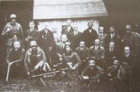 The Sudetengerman Freikorps in 1938 in the adjacent town of Hraničná (Grenzbesetzung)