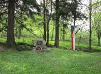 The place where a member of the financial guard in Nové Vilémovice, Stanislav Majzlík, was shot