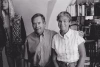 Helena Illnerová with Václav Havel