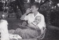 Helena Illnerová with her first grandchild