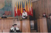 Helena Illnerová during her habilition in 1996