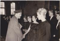 Helena Illnerová during her graduation
