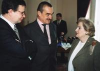 Karel Schwarzenberg with Madeleine Albright