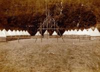 Fotografie z  tábora 1. oddílu Ostrava (nelze určit z jakého tábora č. 2)