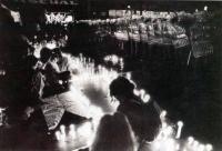 17. listopadu 1989, Národní třída - M. Rajčanová vpředu