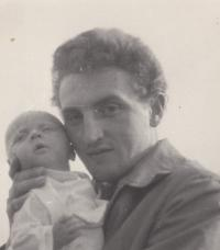1958; with his first daughter Noemi