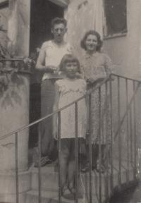 1955; his stepfather, mother, and youngest sister
