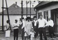 Mojmír Babušík with his family in Křenovice