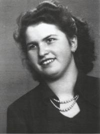 His wife Růžena Bartůňková (Havlová) in the 1950s