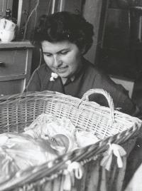 Růžena Bartůňková and her son Ladislav in 1953