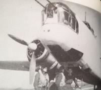 At the aircraft 1944 England