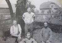 Jan Aust with other prisoners in Rapotín - they were ordered to work while they did their terms