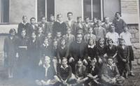 The first grade at grammar school in Šumperk