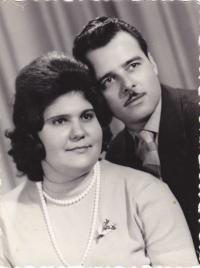 Zoltán Gúth and his second wife, Piroska