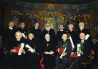 "The presentation of the papal insignia of honor ""For Service to the Church and the Apostolic See"". L'viv, Metropolitan Apartments, 11 January 1998."