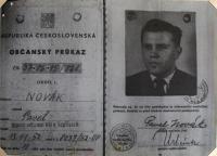 Falešný občanský průkaz vydaný CIC pro špionážní činnost na území ČSR
