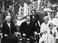The Baghy family in the thirties