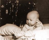 Kamil Černý as a baby