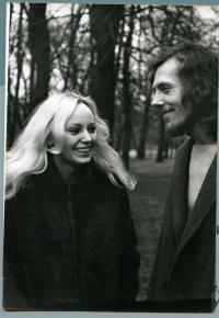 Kamil Černý with wife (1974)