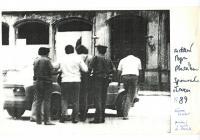 Detaining of Petr Placák, june 1989, Stromovka