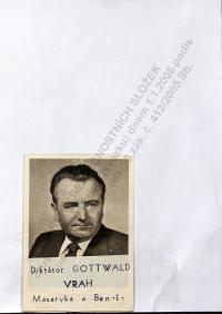"Postcard adjustes by the group ""Evžen""."