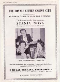 Poster advertising the music performance of Stanley Nova