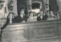 Parent's wedding, 22.4. 1961 in Vejprnice