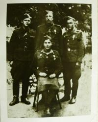 Fedor Havran with his wife Anna and others after Kiev