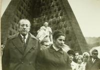 Fedor Havran with his wife Anna at Dukla Memorial