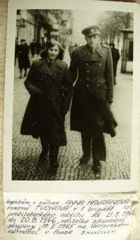 Fedor Havran with his wife Anna at May 1945