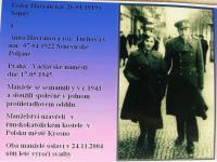 Anna Havranová with husband 1945