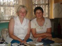 Jelena Podhájská-Jarmoljuk with her sister, on 16 July, 2012