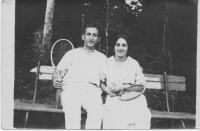 Grandparents at top of their tennis career. Grandfather was nominated to Olympic games with discus throw.