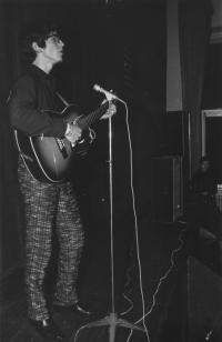 One of his first performances at the beat festival in Olomouc, 1967