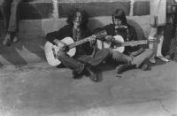 With Petr Kalandra on Charles Bridge, 1968