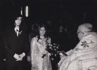 Wedding with Zora Růžová, 22 March 1969