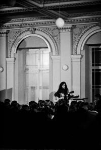 A concert in Žofín, photo by Bohdan Holomíček, 1969