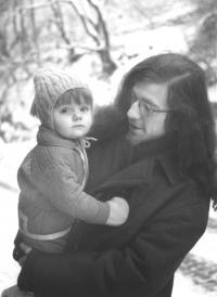 With his son Vavřinec on a walk in Vyšehrad, 1971
