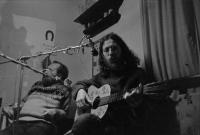 With Egon Bondy, 1977