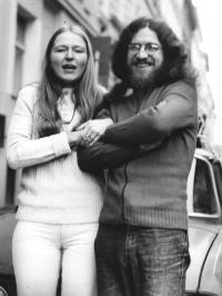 With his second wife Daniela just before emigrating, 18 October 1978