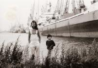 With his son Vavřinec in Rotterdam, 1980