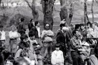 Protest against a nuclear storage site, Rouchovany, 16 April 1992