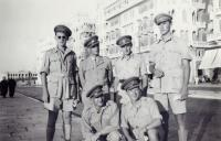 Smart men from officer's school (Josef Hercz on the right), 1942