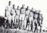 Instructors (Josef Hercz on the left), 1942