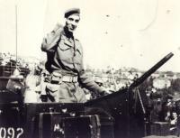 Josef Hercz on exhibition in Prague 1945