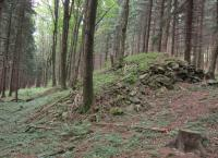 Agrarian mounds made of stones which used to be located on the edges of fields in Kamenné before the war