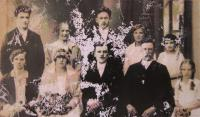 Photo taken at the wedding of her parents